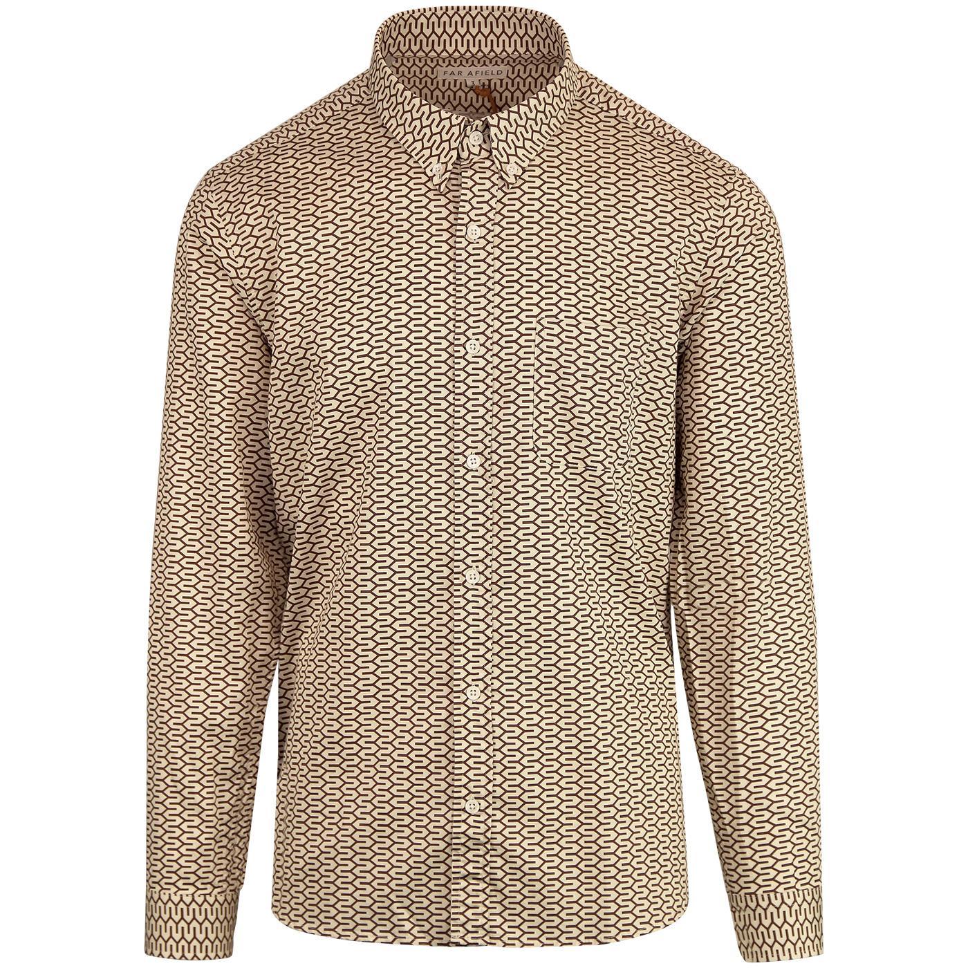 Renold FAR AFIELD Retro 70s Geometric Mod Shirt