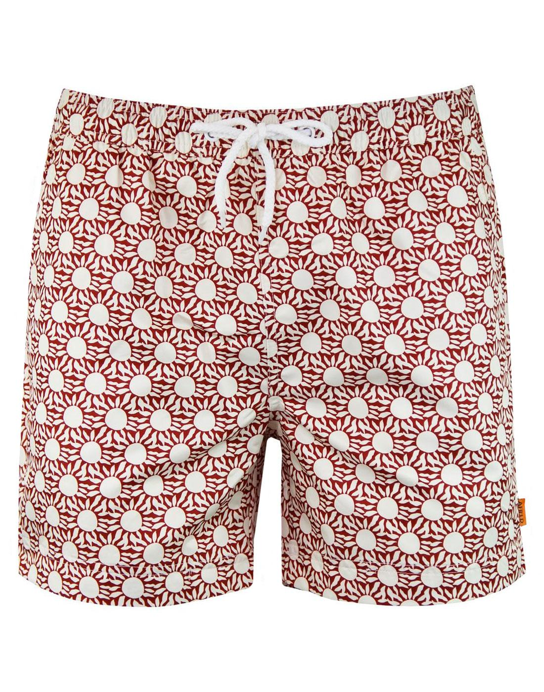 AFIELD Men's Retro 70s Geo Sun Print Swim Shorts