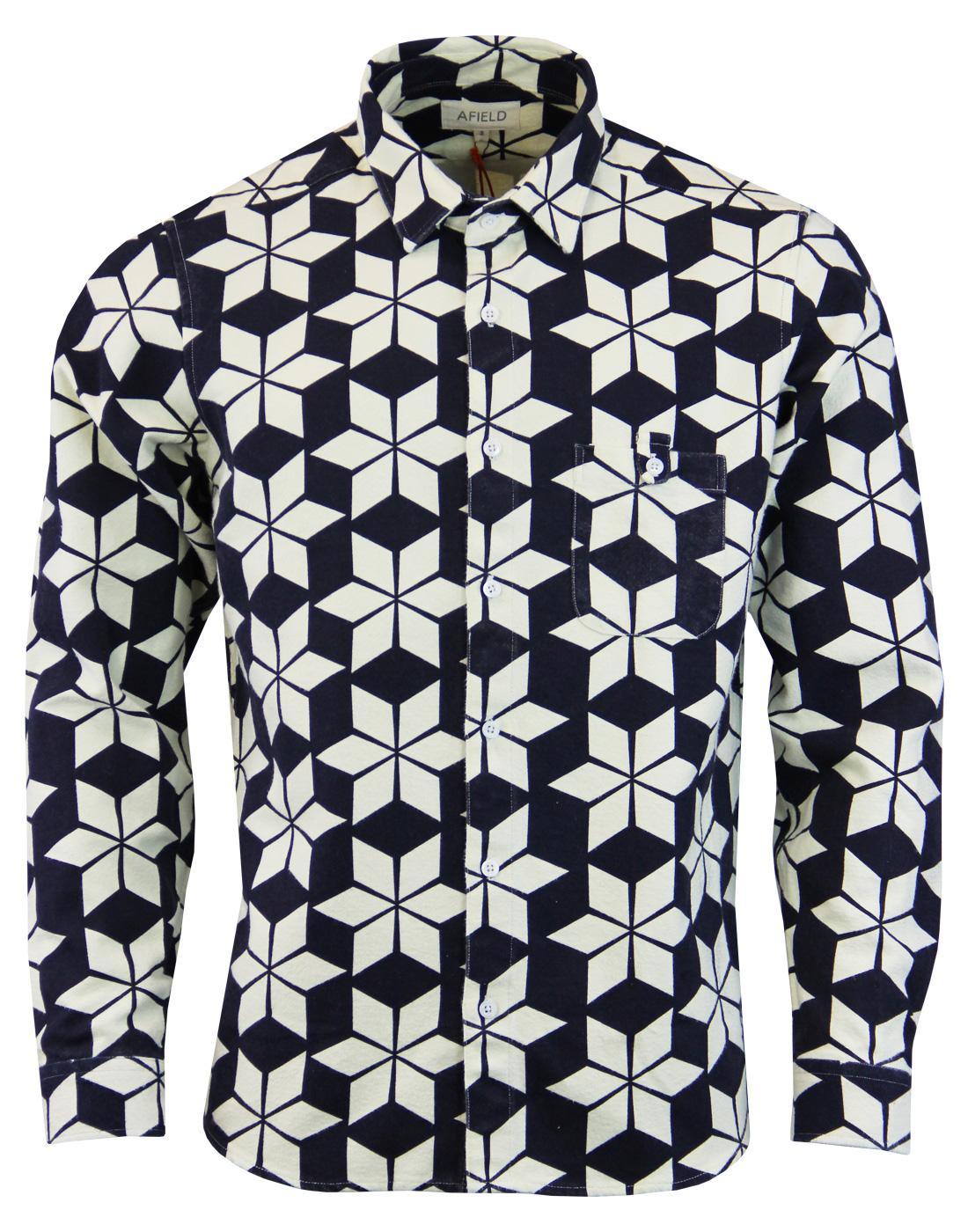Tab AFIELD Alpine Floral Retro Flannel Overshirt