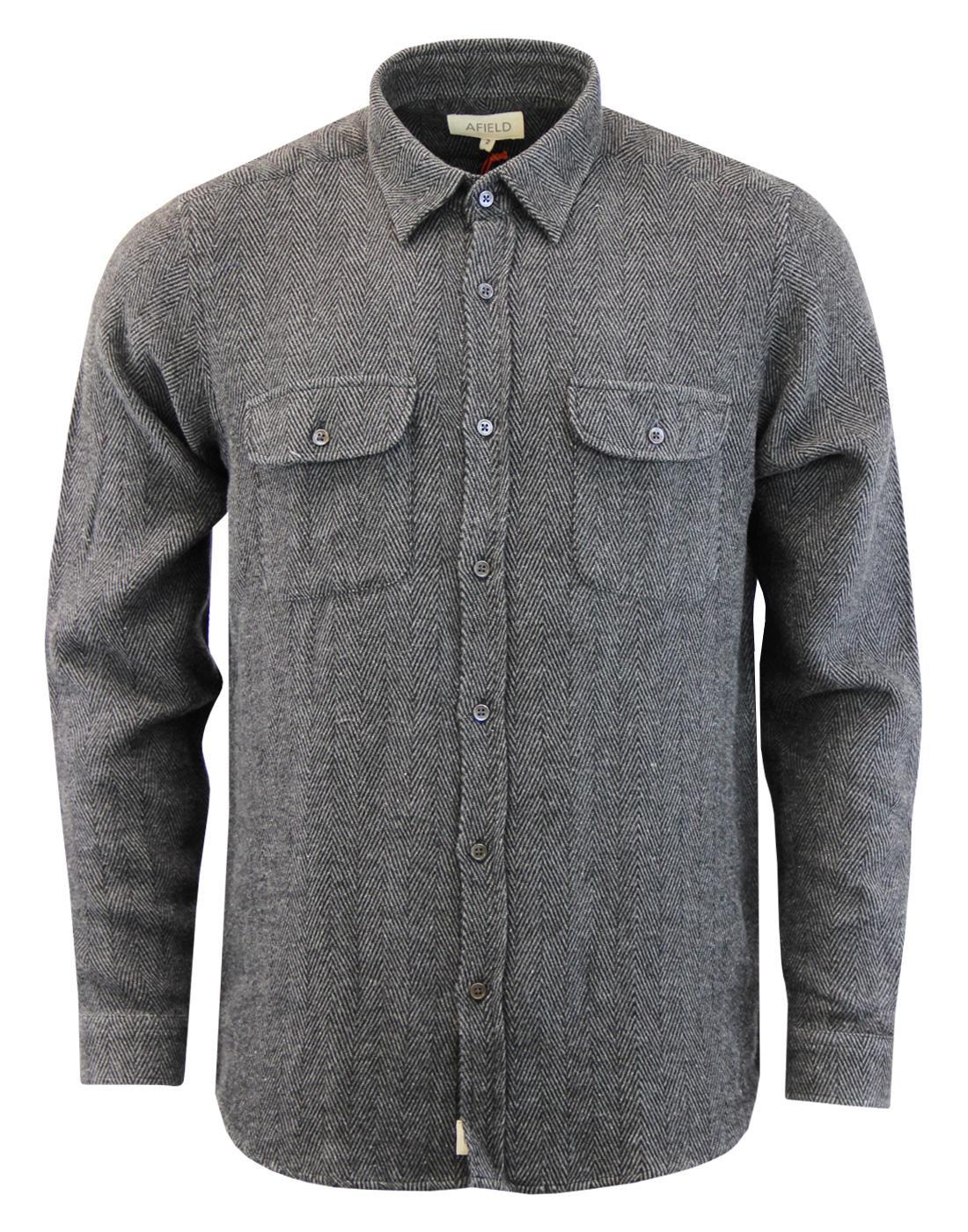 AFIELD Retro Mod Herringbone Stripe Workwear Shirt