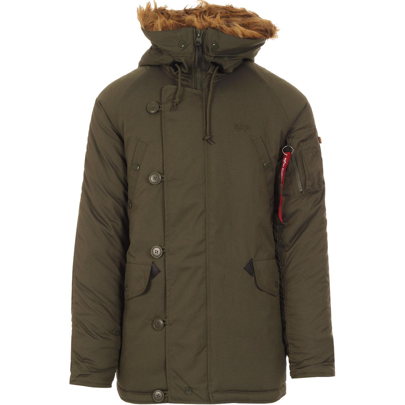 Explorer ALPHA INDUSTRIES Mens Snokel Parka Jacket