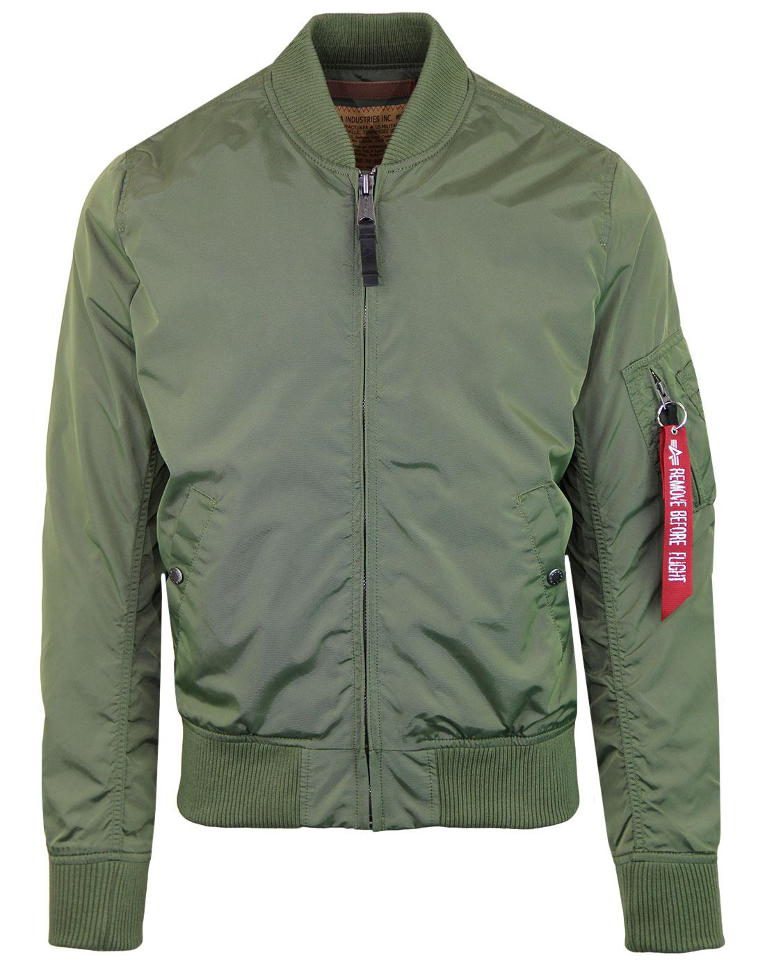 MA1 TT ALPHA INDUSTRIES 70s Mod Bomber Jacket SAGE