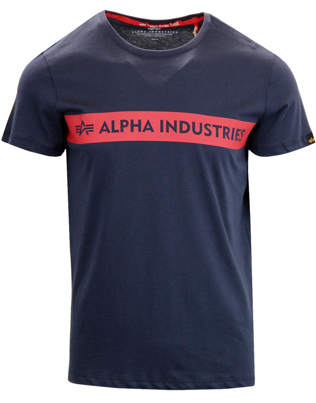 ALPHA INDUSTRIES Red Stripe Chest Logo Indie Tee N
