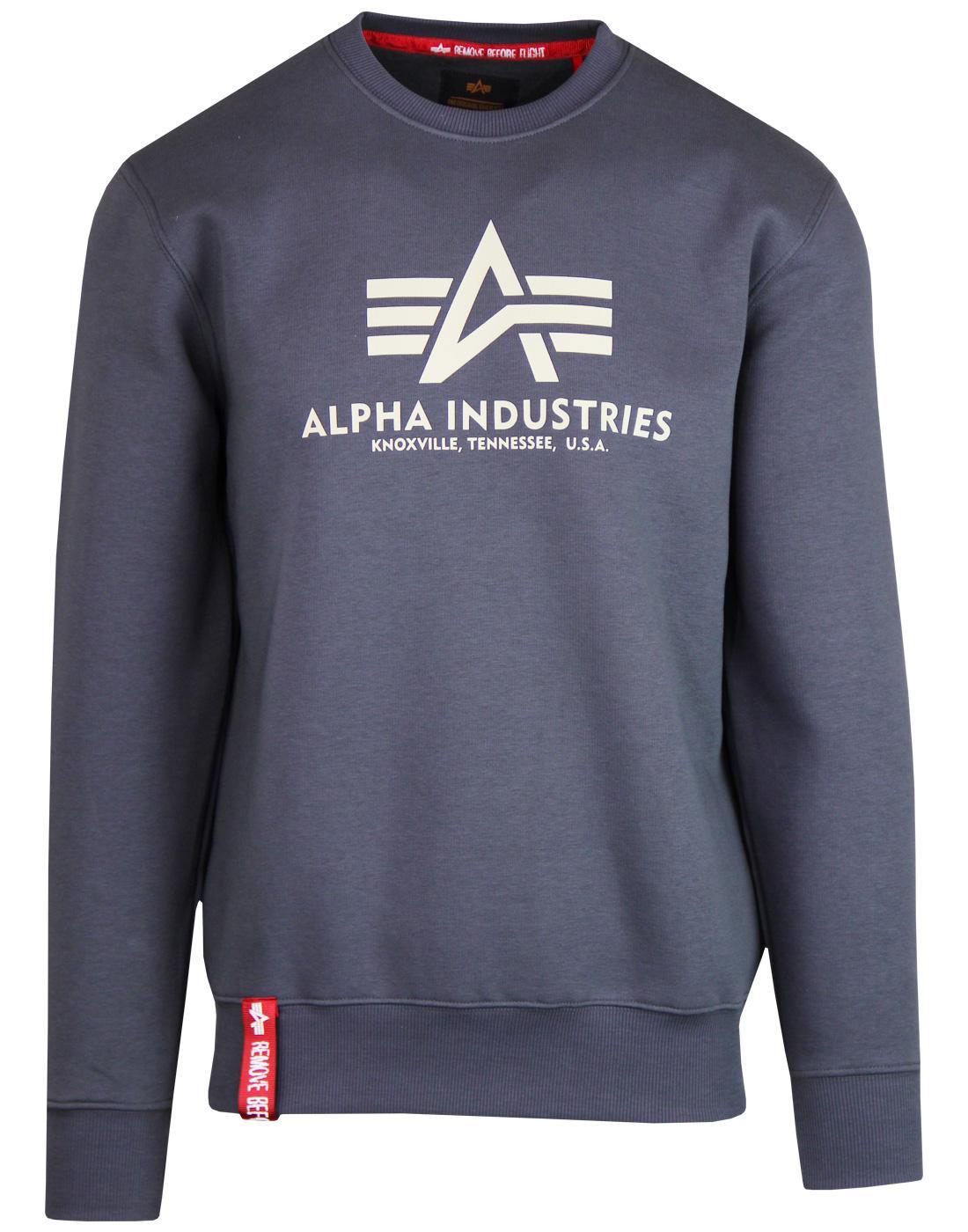 ALPHA INDUSTRIES Retro 70s Basic Logo Sweatshirt G