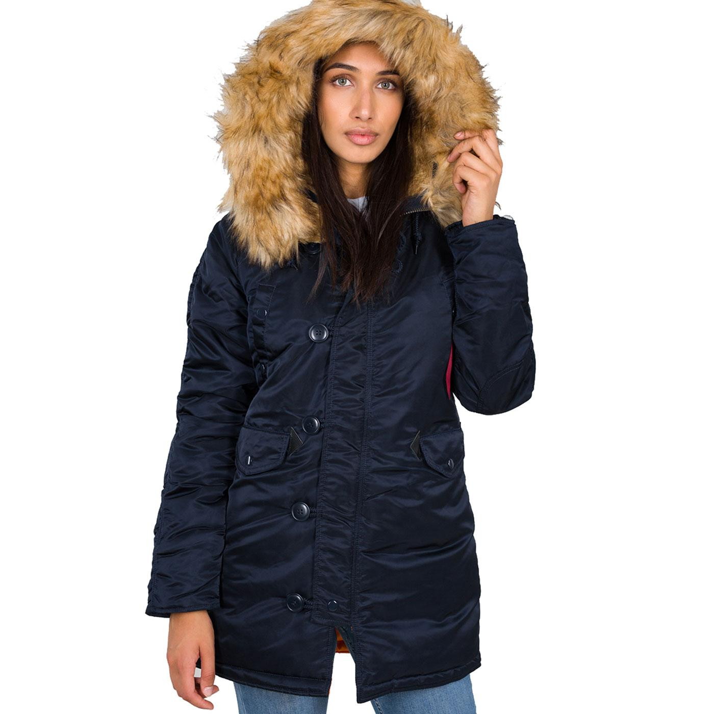 N3B VF ALPHA INDUSTRIES Women's Snorkel Parka RB