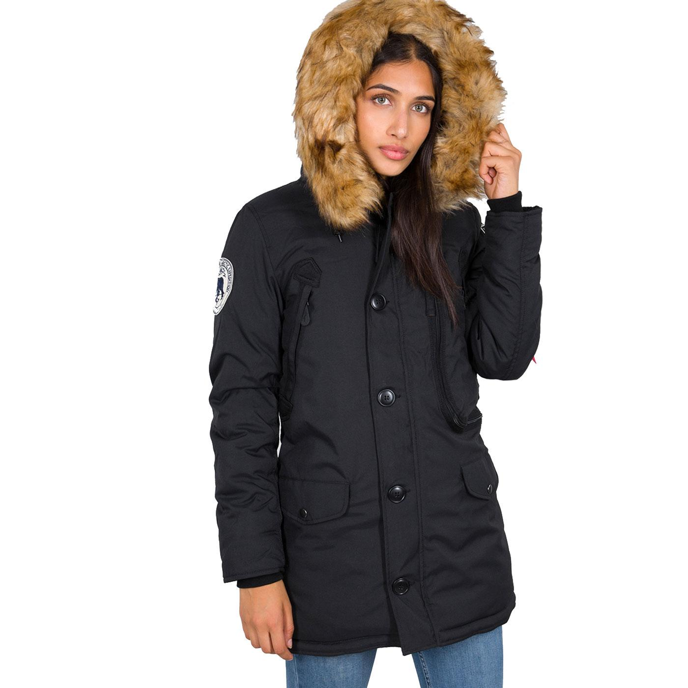 ALPHA INDUSTRIES Womens Polar Snorkel Parka Jacket