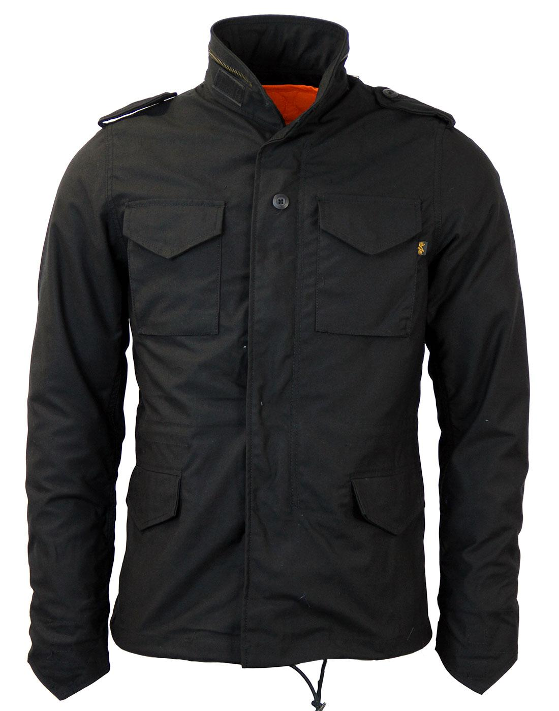 alpha industries m 65 heritage retro mod field jacket in black. Black Bedroom Furniture Sets. Home Design Ideas