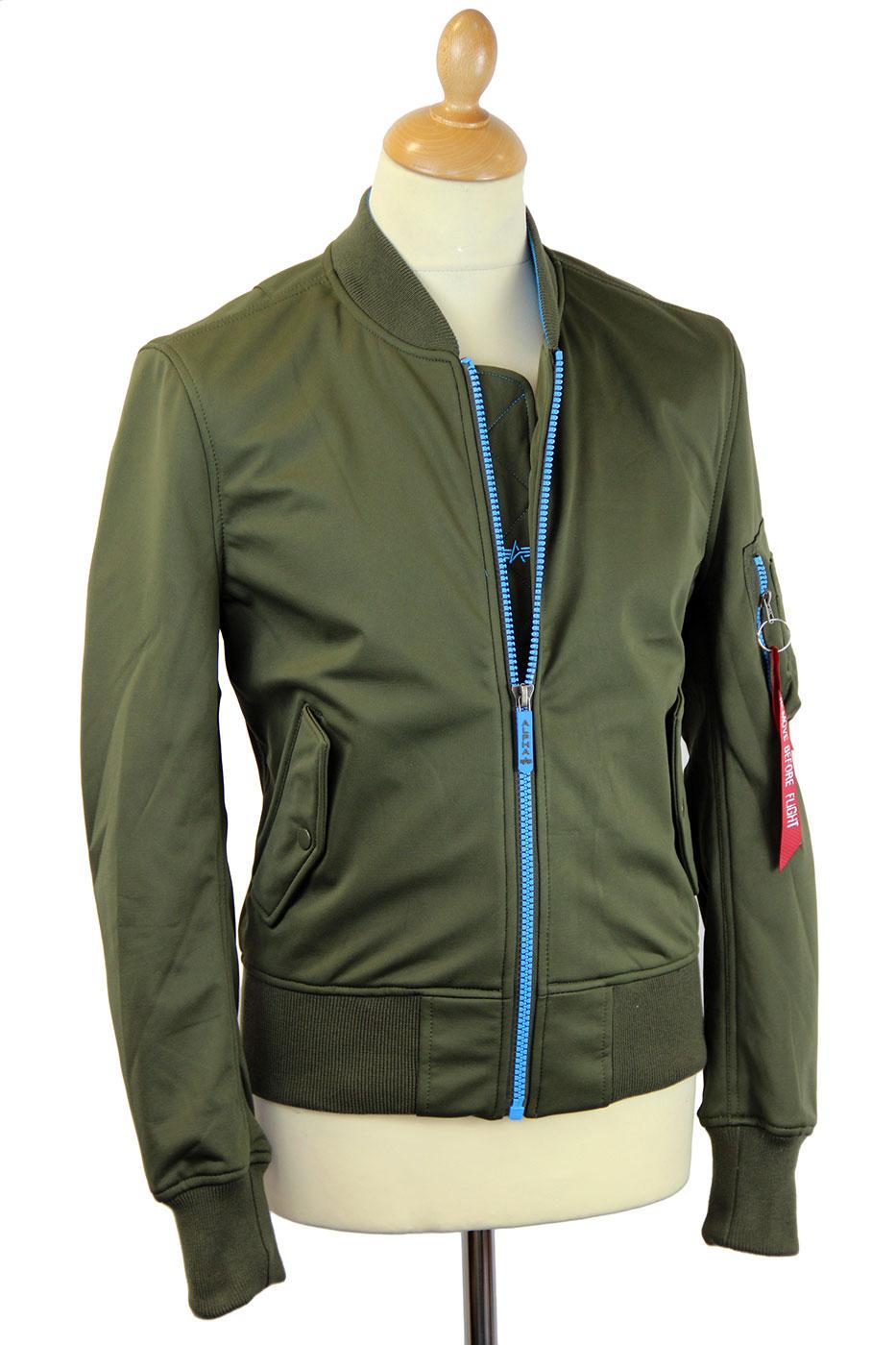 MA 1 Soft Shell ALPHA INDSUTRIES Bomber Jacket (O)
