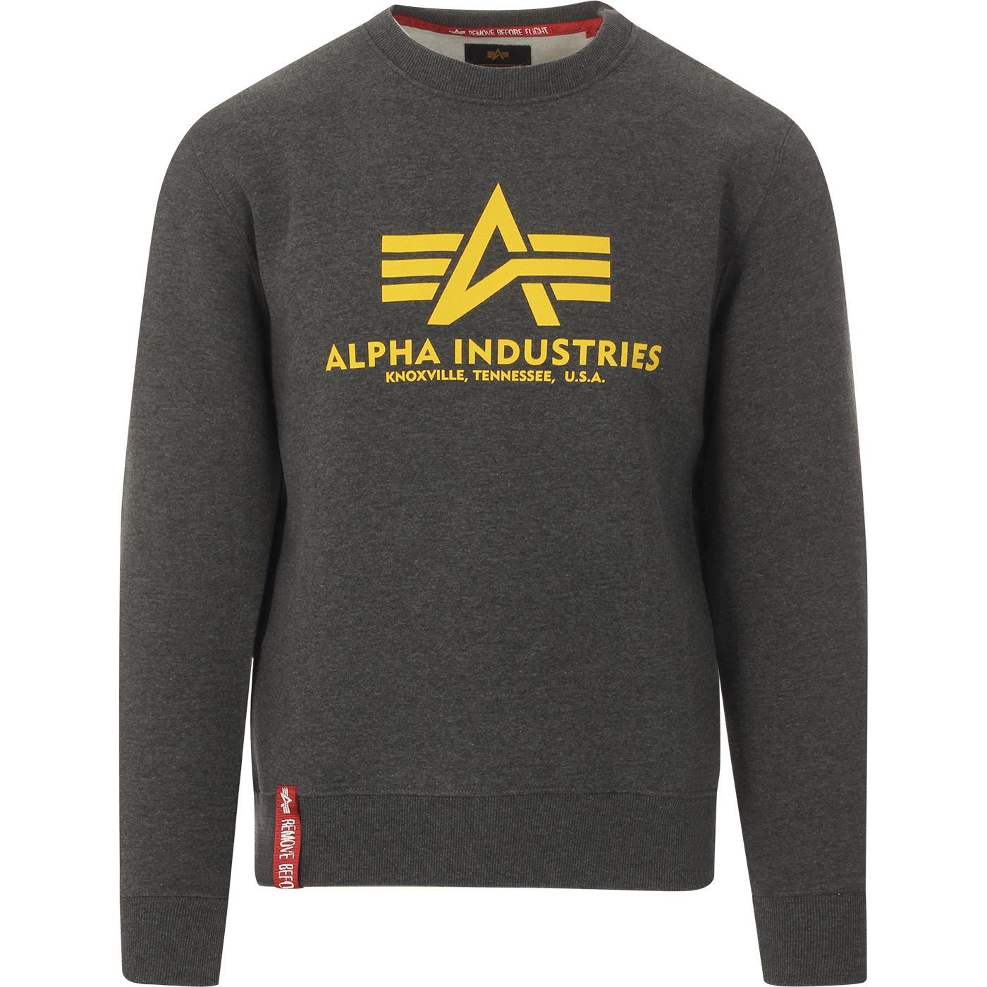 ALPHA INDUSTRIES Retro Crew Logo Sweatshirt (CH)