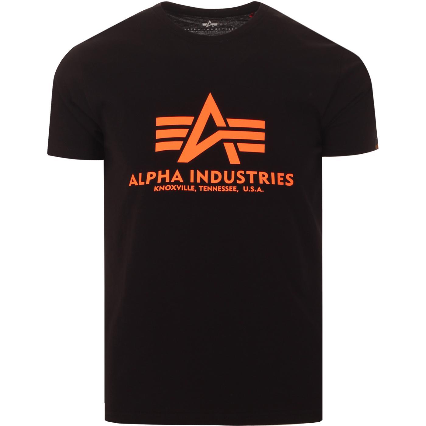 ALPHA INDUSTRIES Retro Reflective Logo Tee (B/O)