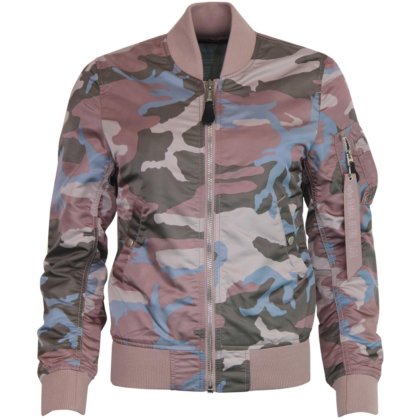ALPHA INDUSTRIES MA1 VFLW Retro Camo Bomber Jacket