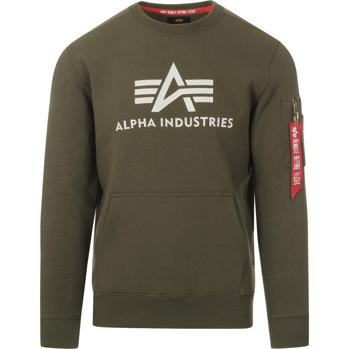 ALPHA INDUSTRIES Men's 3D Logo Sweater (DO)