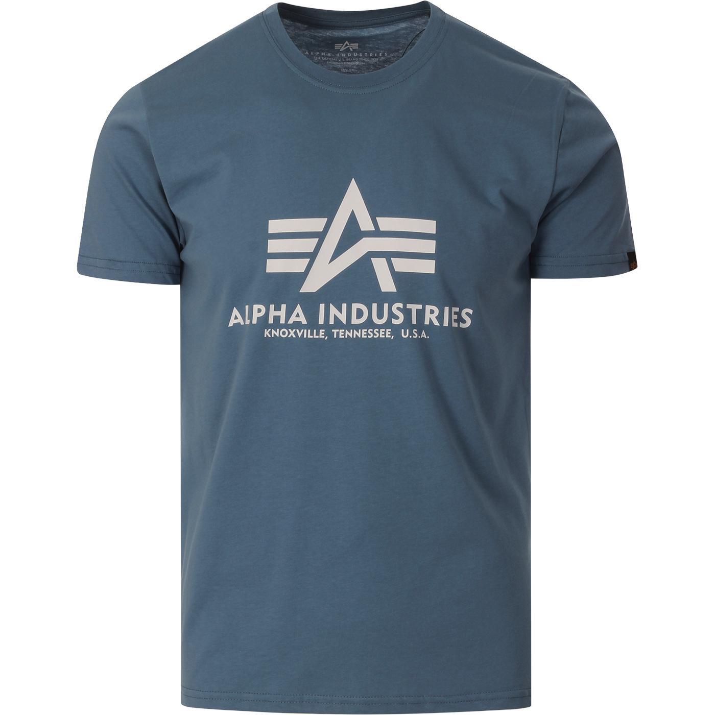 ALPHA INDUSTRIES Retro Logo Tee (Airforce Blue)