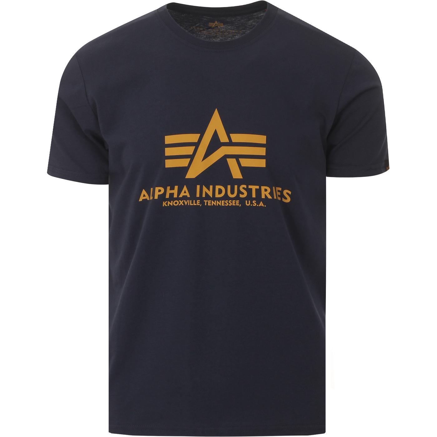 ALPHA INDUSTRIES Retro Logo Tee (New Navy)