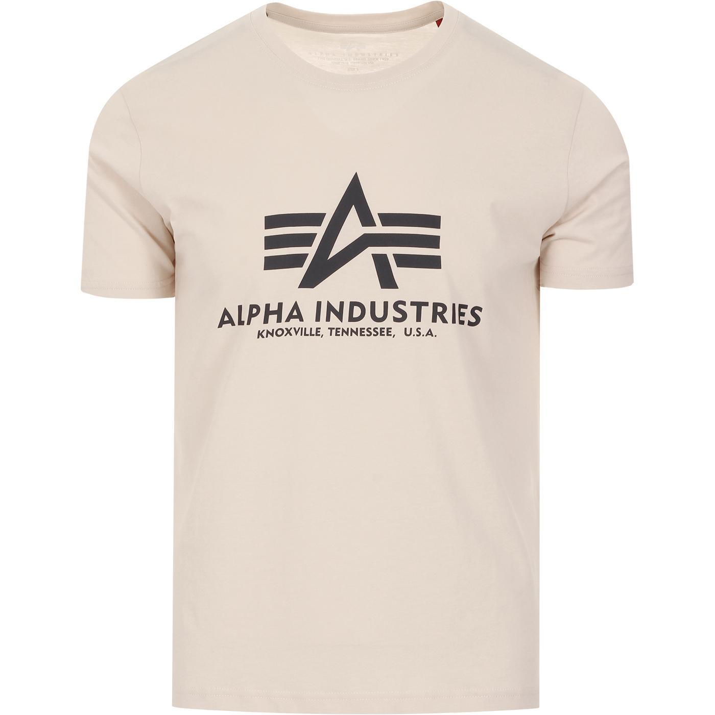 ALPHA INDUSTRIES Retro Logo Tee (Jet Stream)