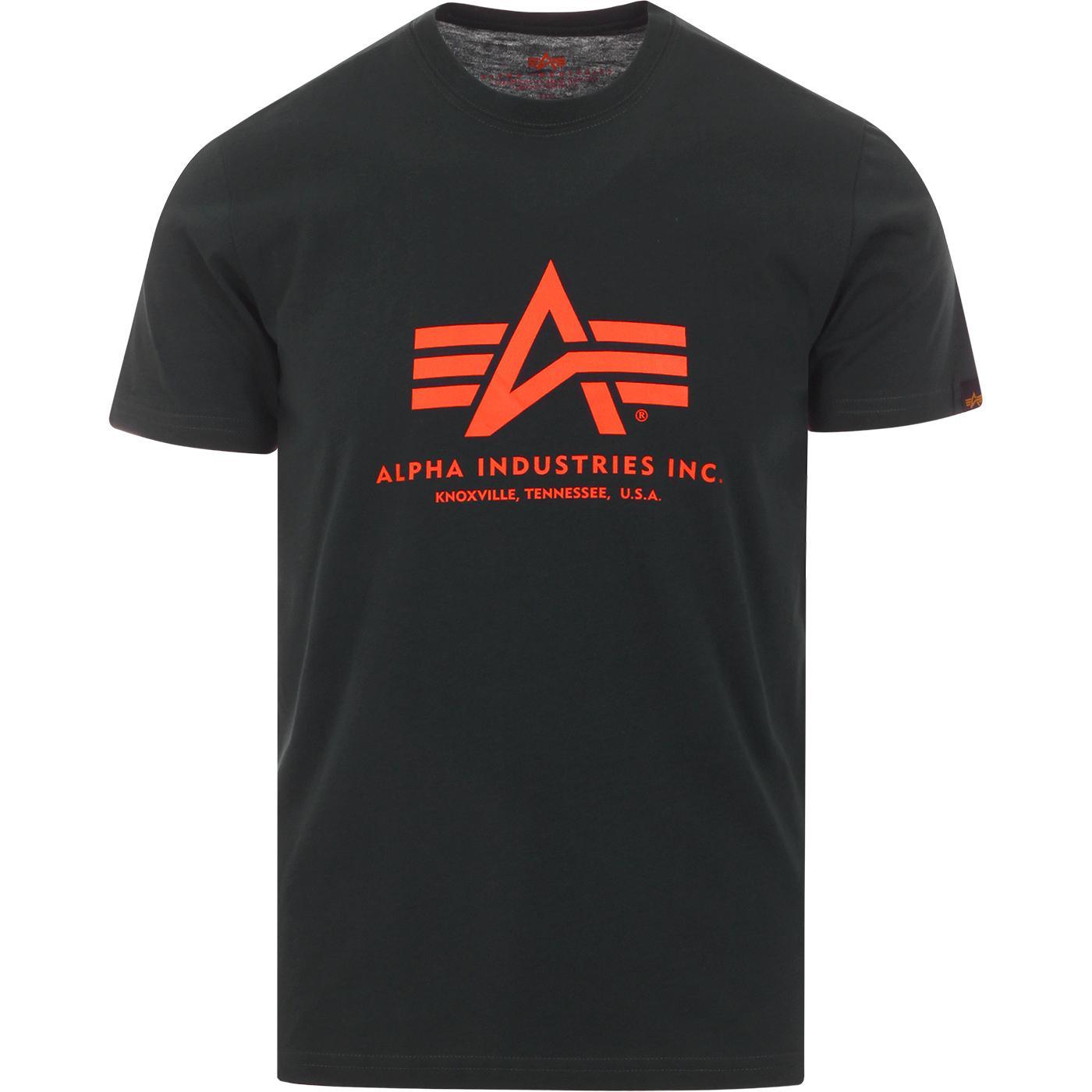 ALPHA INDUSTRIES Retro Logo Tee (Dark Petrol)