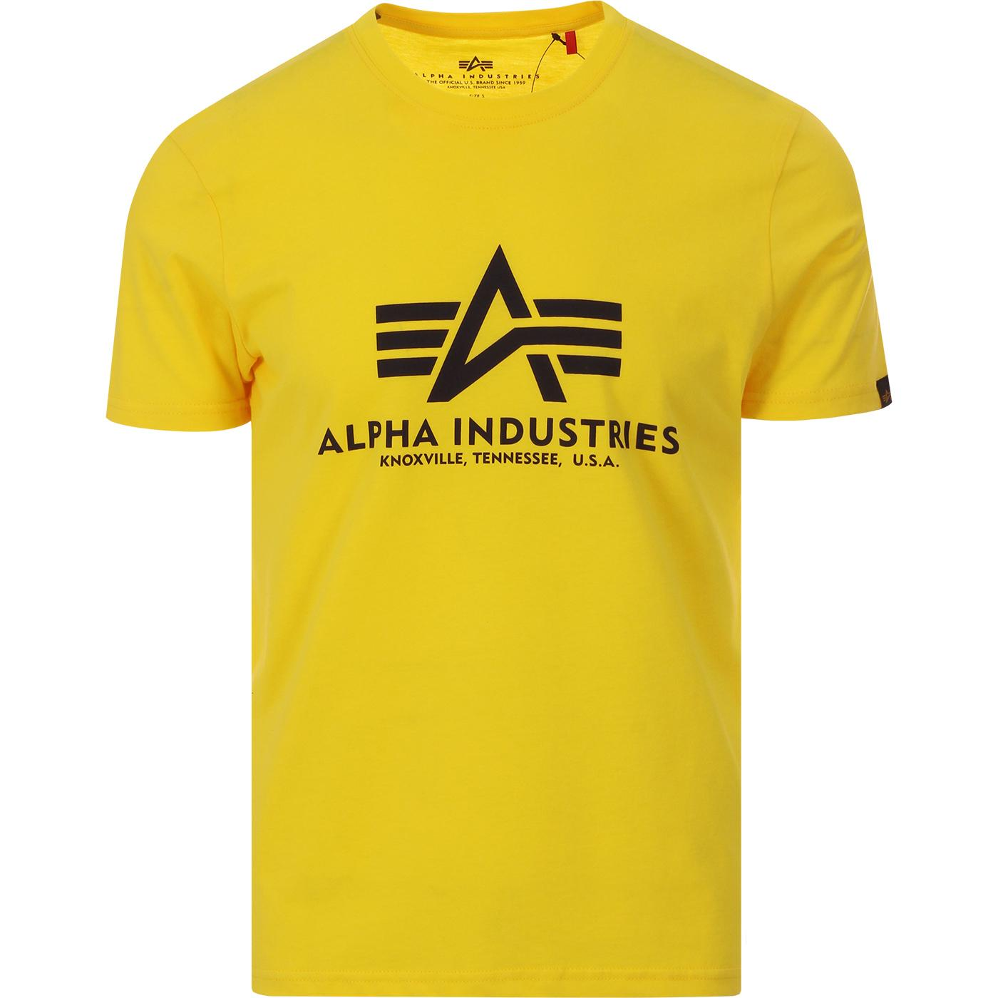 ALPHA INDUSTRIES Retro Logo Tee (Empire Yellow)