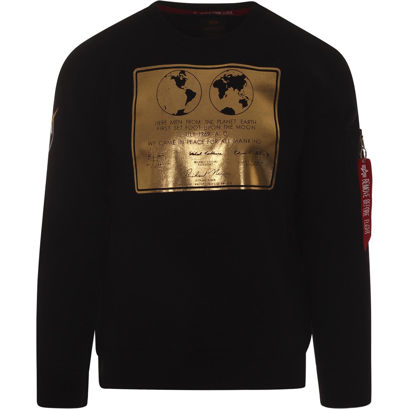 ALPHA INDUSTRIES Lunar Plaque Moon Sweater (Black)