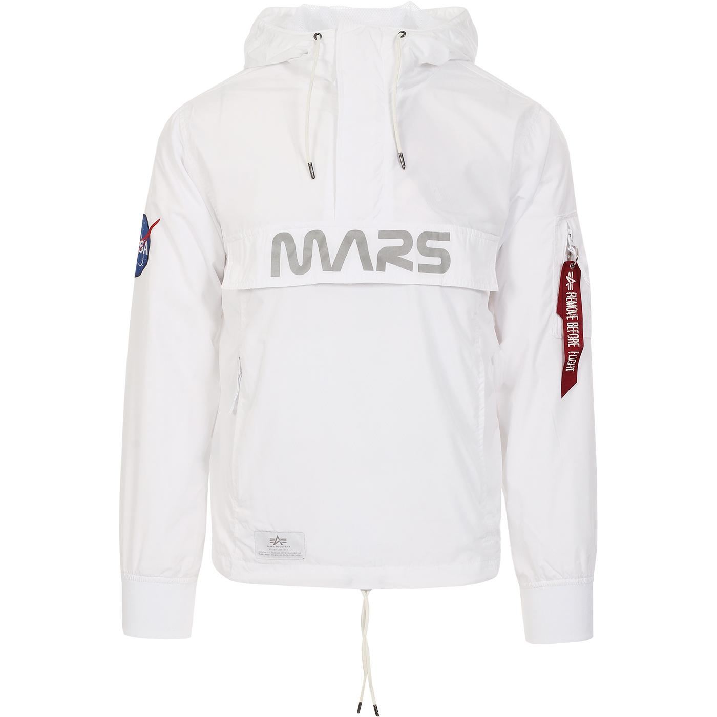 ALPHA INDUSTRIES Mars Mission NASA OH Anorak WHITE