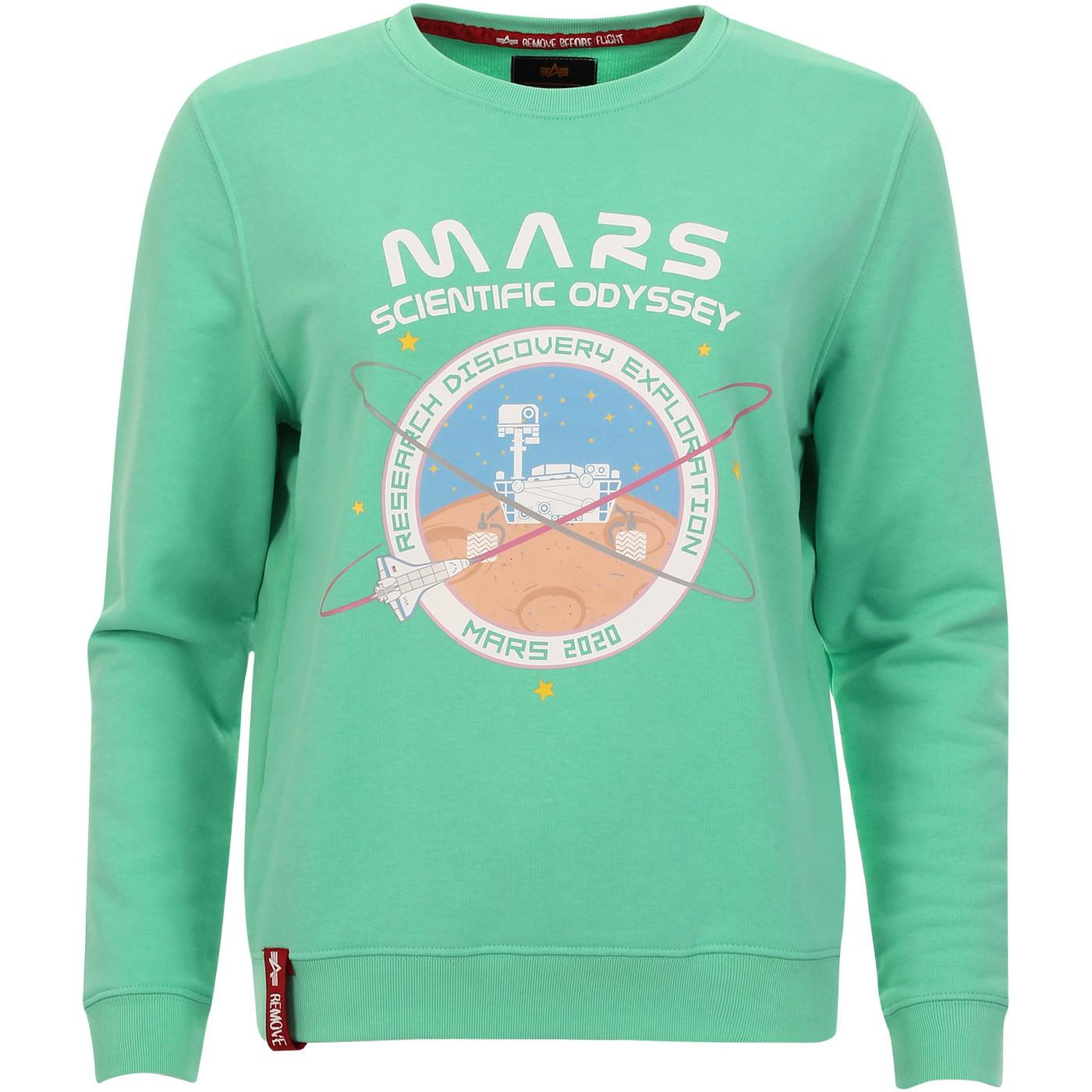 Mission To Mars ALPHA INDUSTRIES Sweater MINT