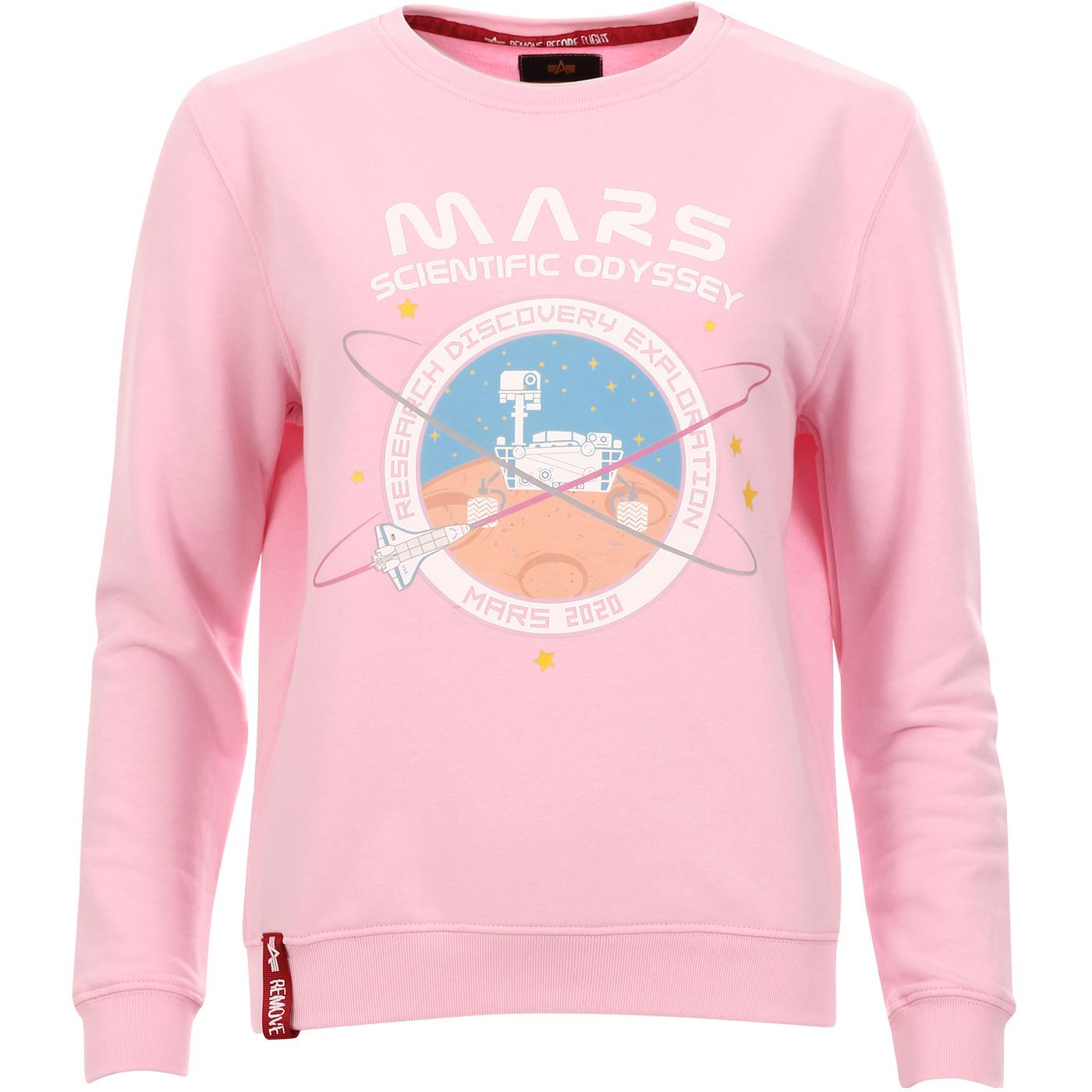Mission To Mars ALPHA INDUSTRIES Sweater PINK