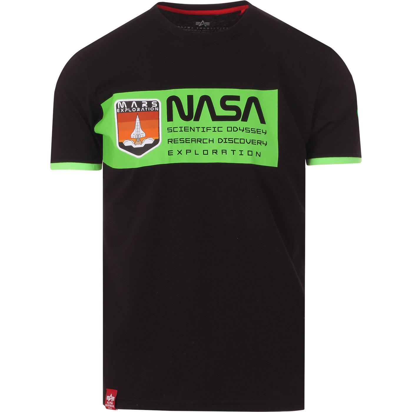 ALPHA INDUSTRIES x NASA Retro Mars Neon Tee