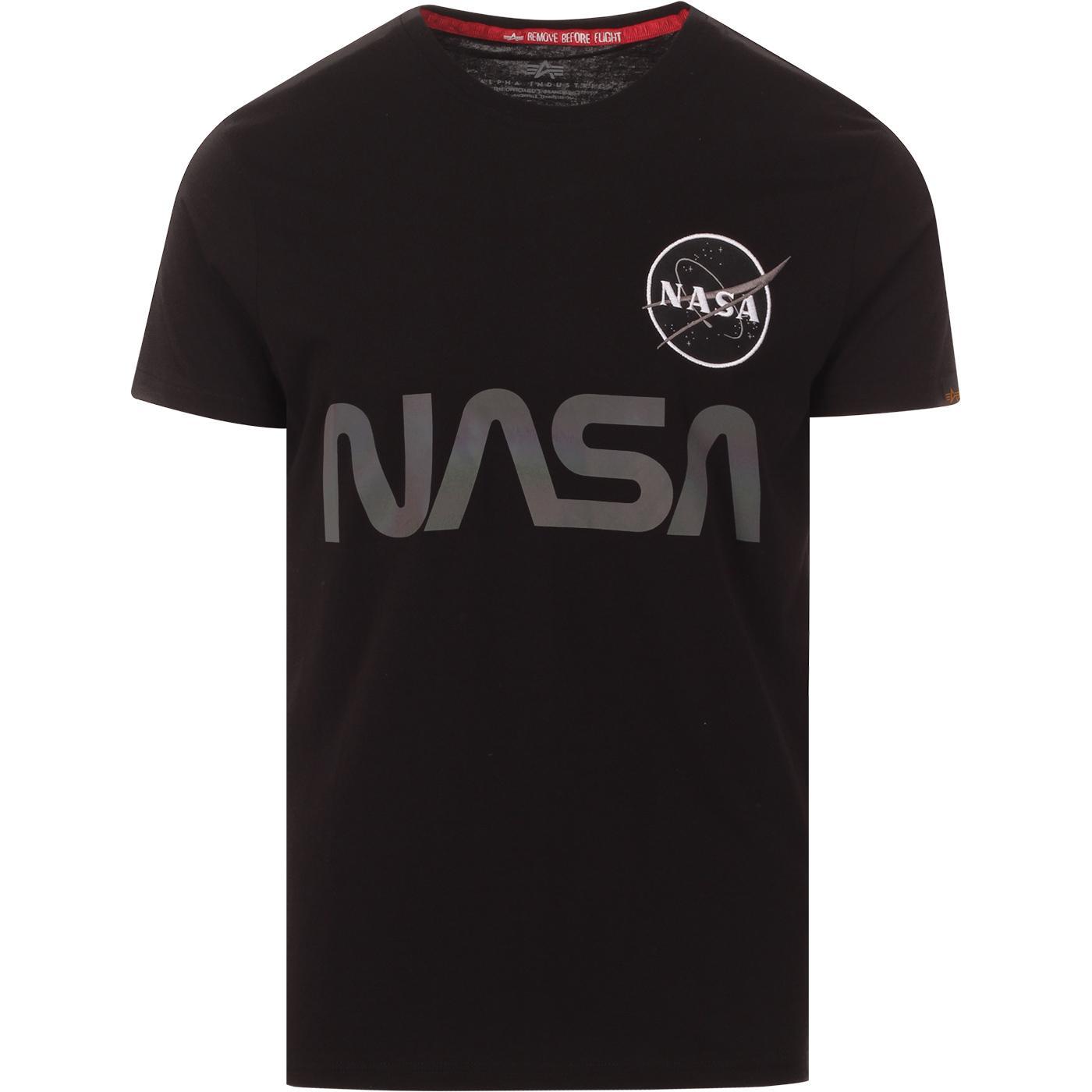 ALPHA INDUSTRIES X NASA Rainbow Ref. Tee (Black)