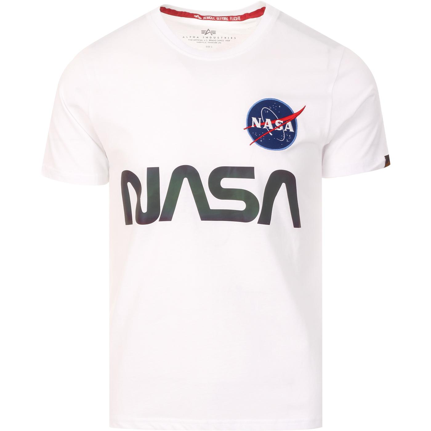 ALPHA INDUSTRIES X NASA Rainbow Ref. Tee (White)