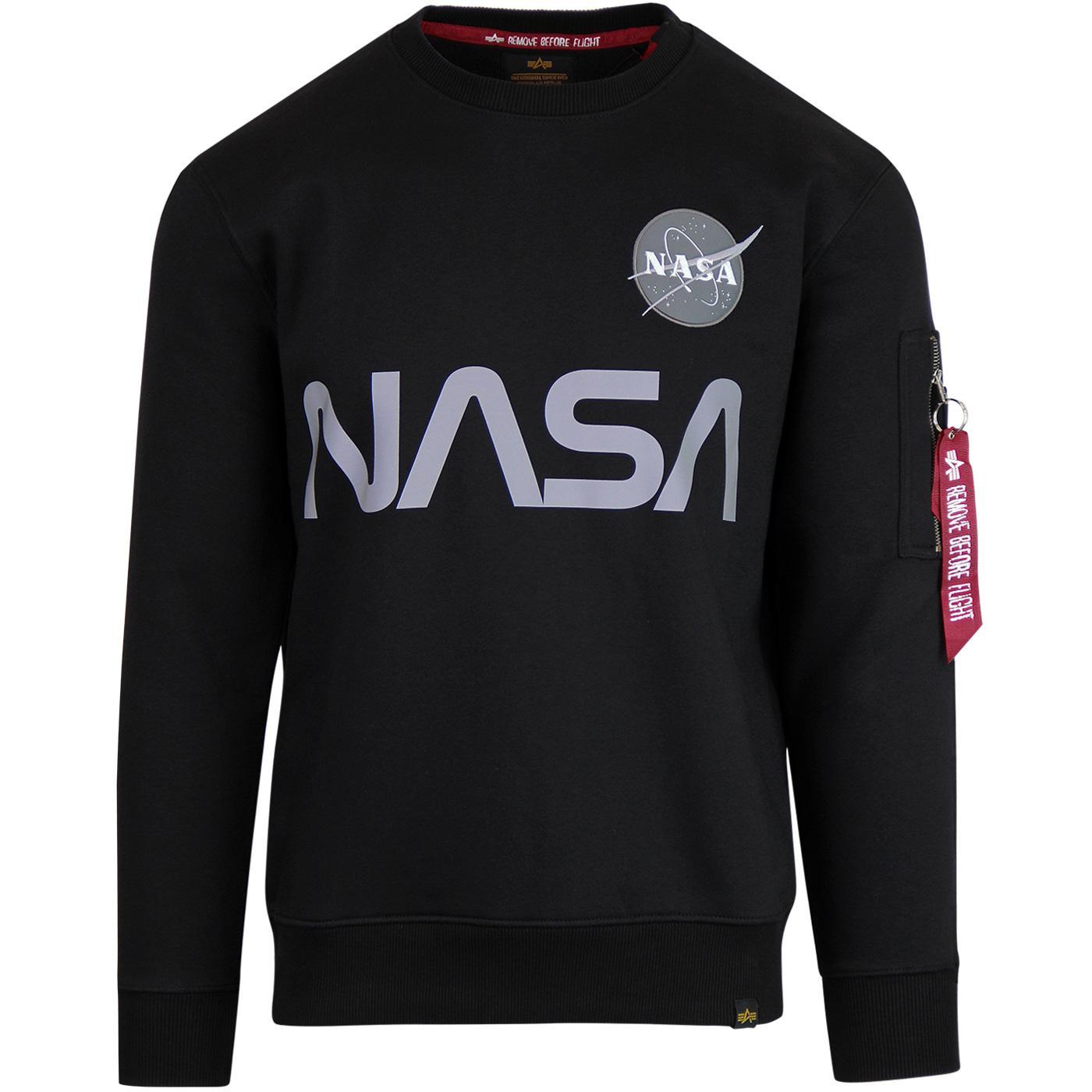 ALPHA INDUSTRIES Reflective NASA Sweatshirt (B)