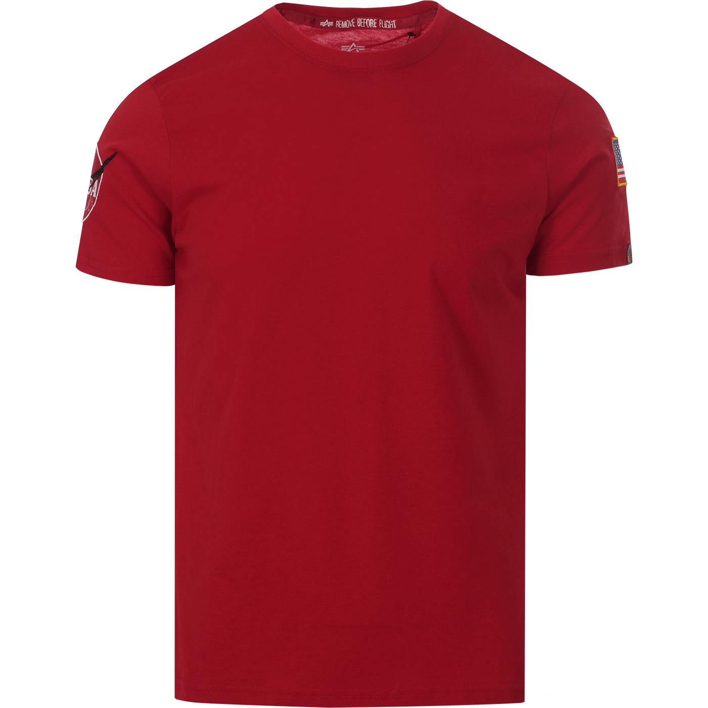 ALPHA INDUSTRIES Nasa Badged T-Shirt (Speed Red)