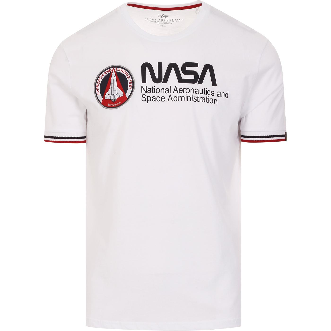 ALPHA INDUSTRIES x NASA Men's Retro Tee (White)