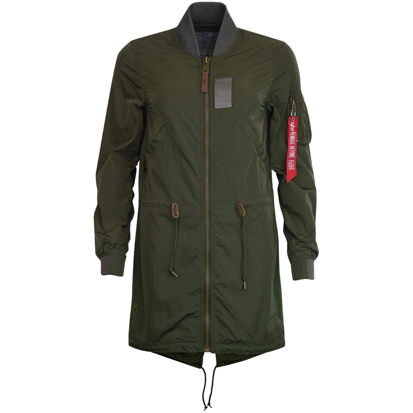 ALPHA INDUSTRIES Women's Fishtail Bomber Jacket