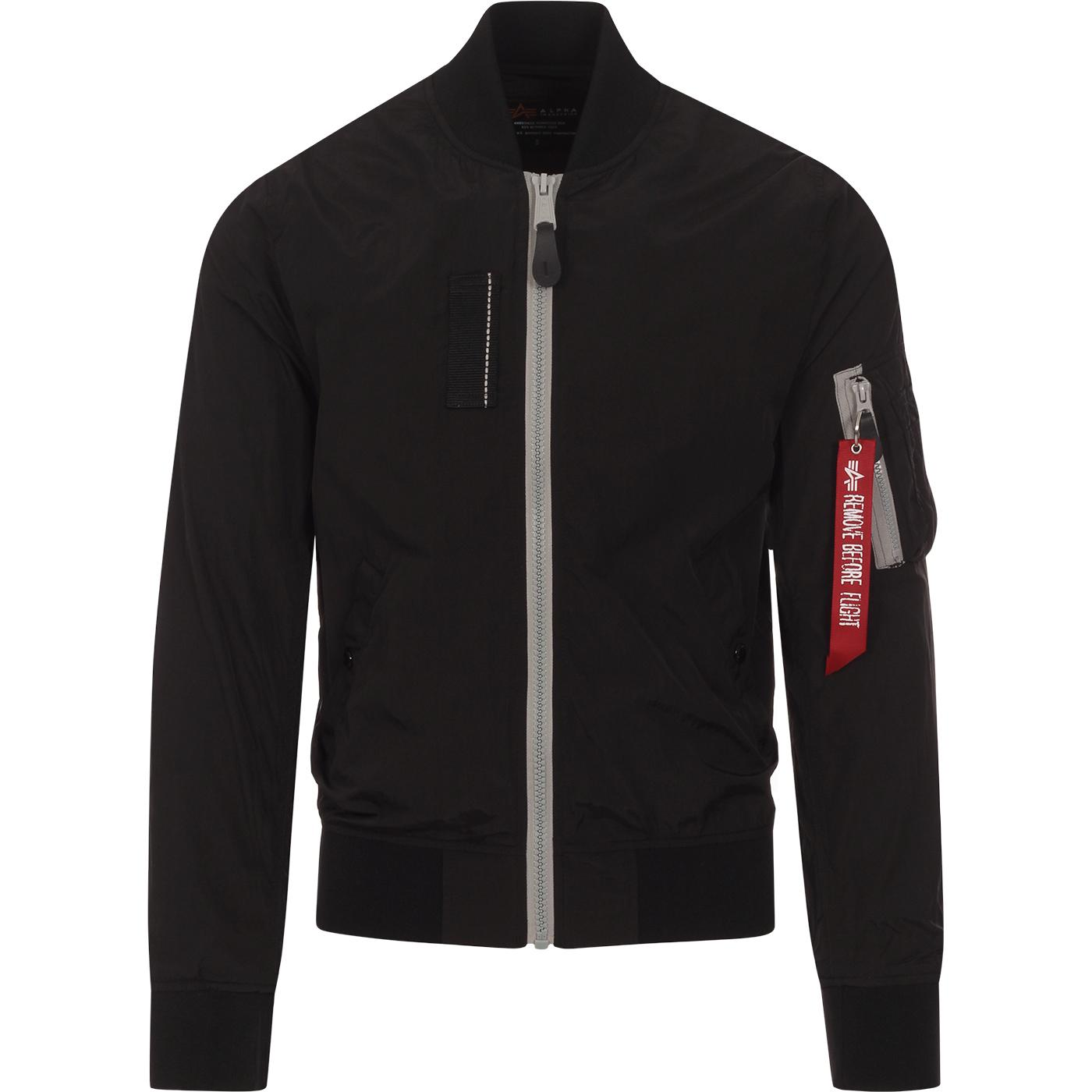ALPHA INDUSTRIES MA-1 SL Light Bomber Jacket BLACK