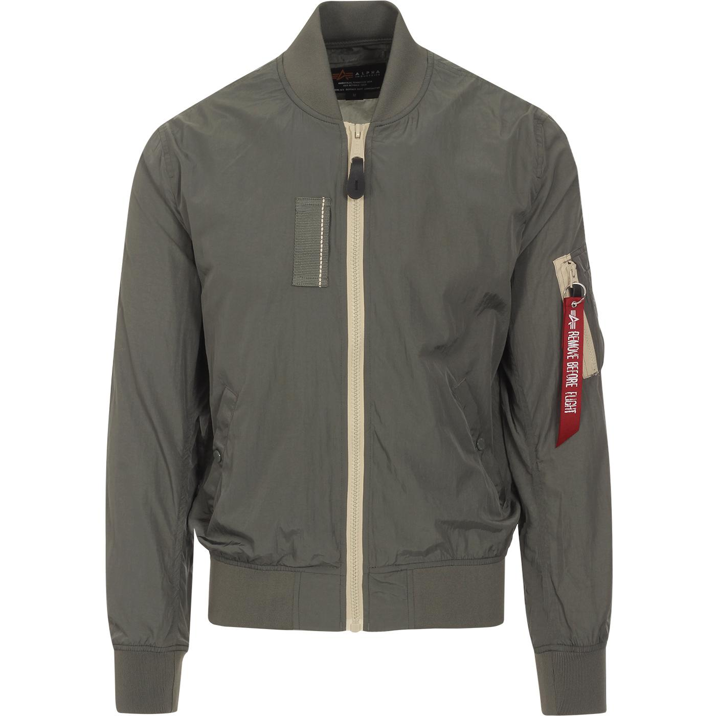 ALPHA INDUSTRIES MA-1 SL Light Bomber Jacket (VG)