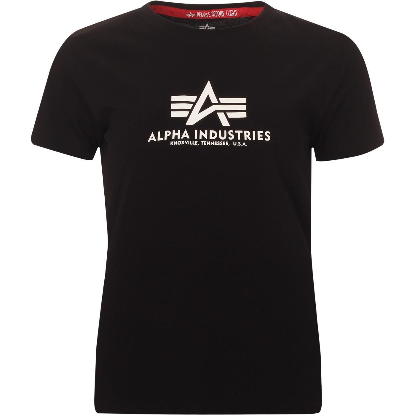 ALPHA INDUSTRIES Women's Retro Logo Tee (Black)