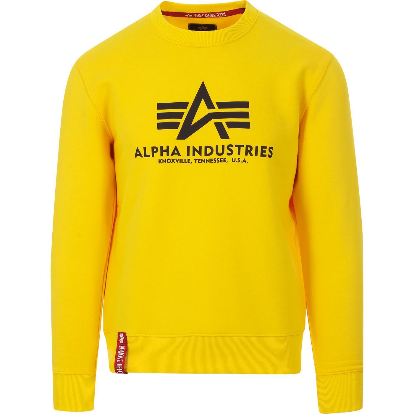ALPHA INDUSTRIES Logo Sweatshirt (Empire Yellow)