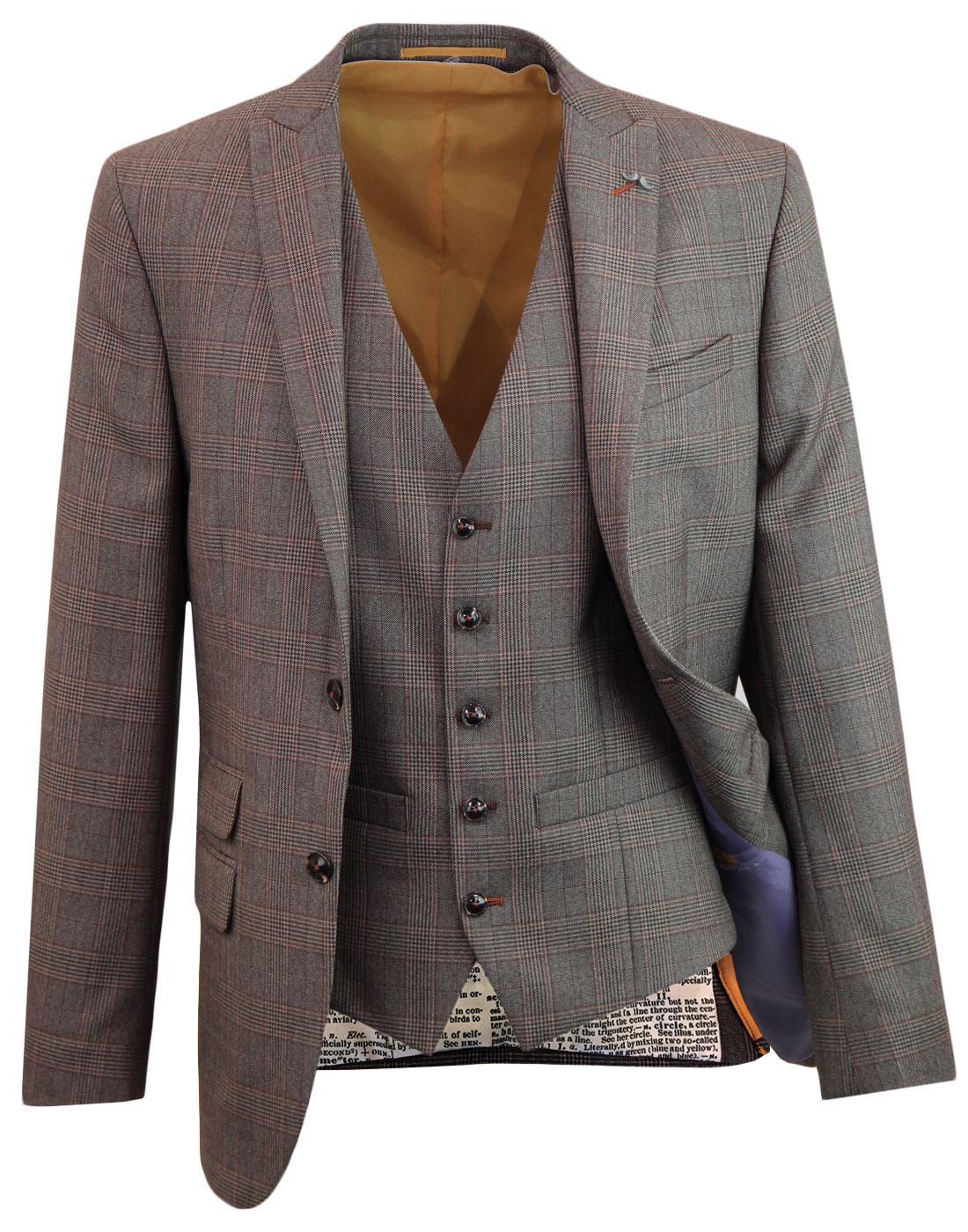 ANTIQUE ROGUE POW Check Mod Blazer & Waistcoat