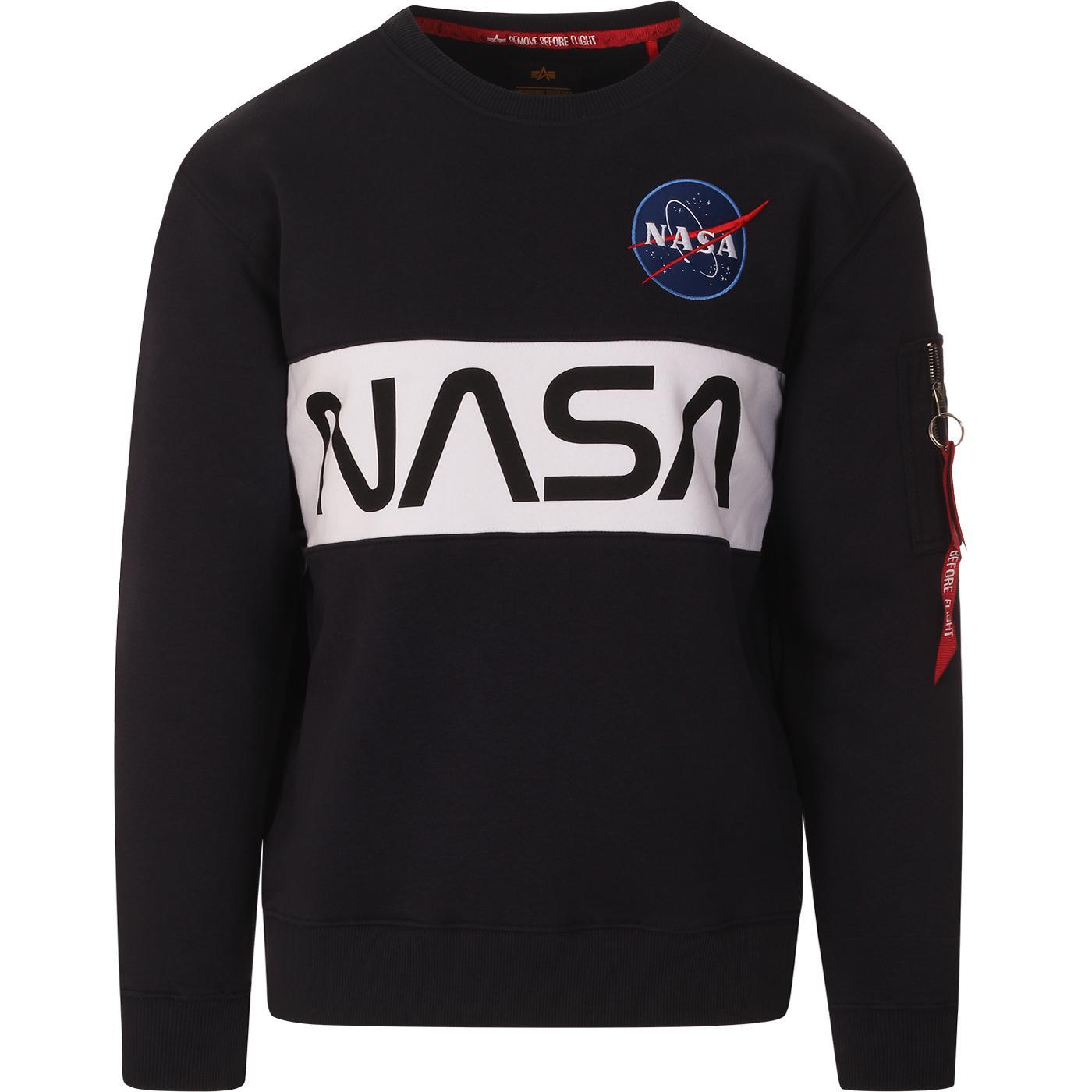 ALPHA INDUSTRIES x NASA Retro Inlay Sweater (RB)