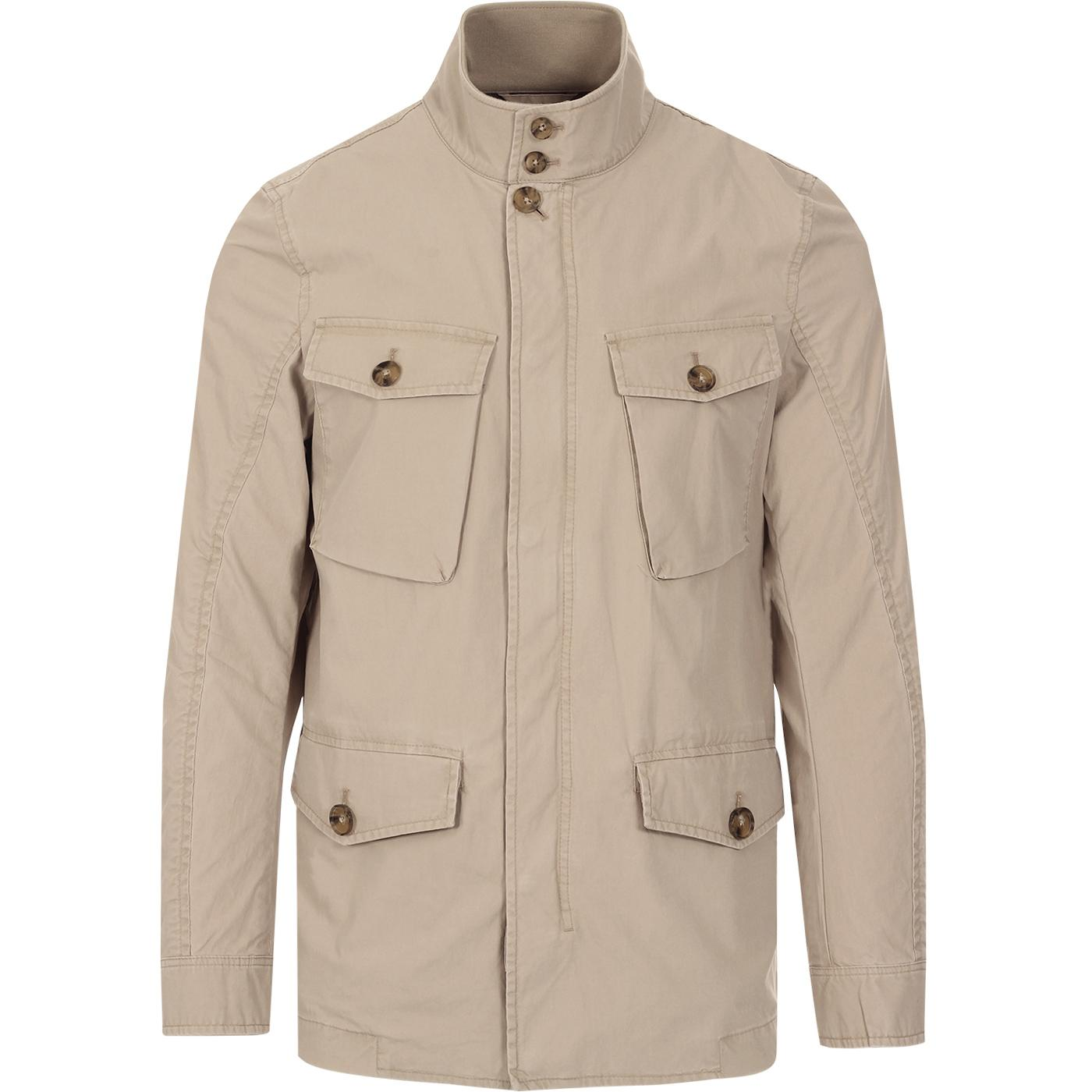 BARACUTA Iconic Wash Military Field Jacket (Sand)