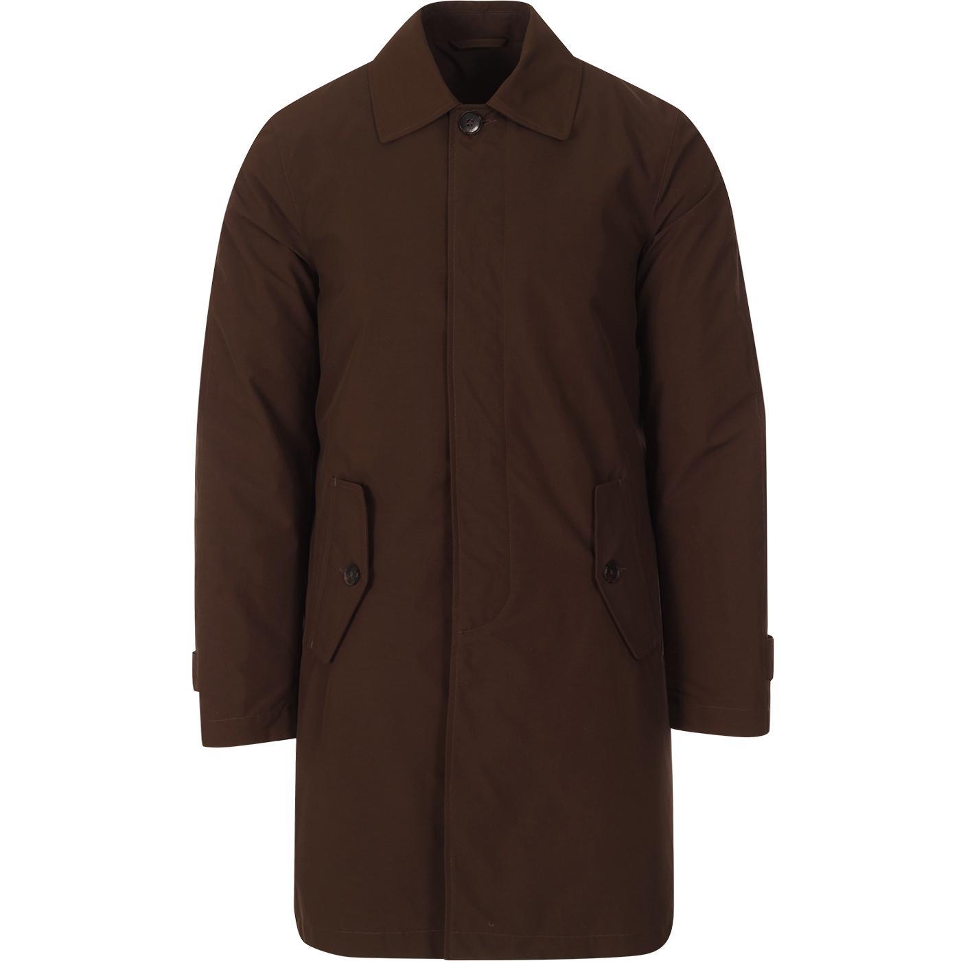 BARACUTA G10 Detachable Lining Raincoat CHOCOLATE