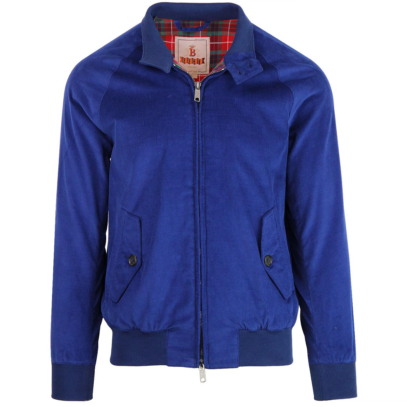 BARACUTA G9 Authentic Fit Cord Harrington (Cobalt)