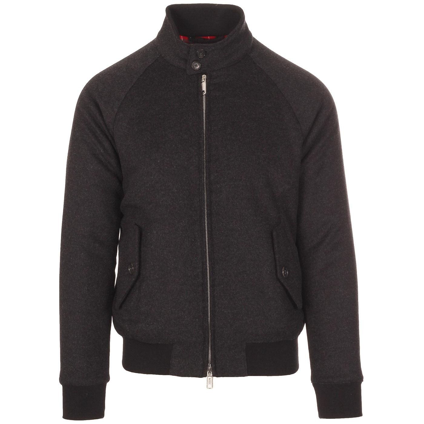 BARACUTA G9 Melton Mod Harrington Jacket CHARCOAL