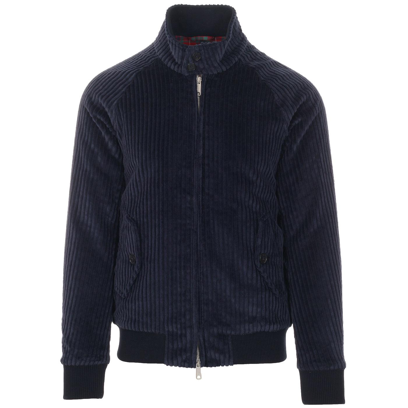 Robert G9 BARACUTA Mod Jumbo Cord Harrington NAVY