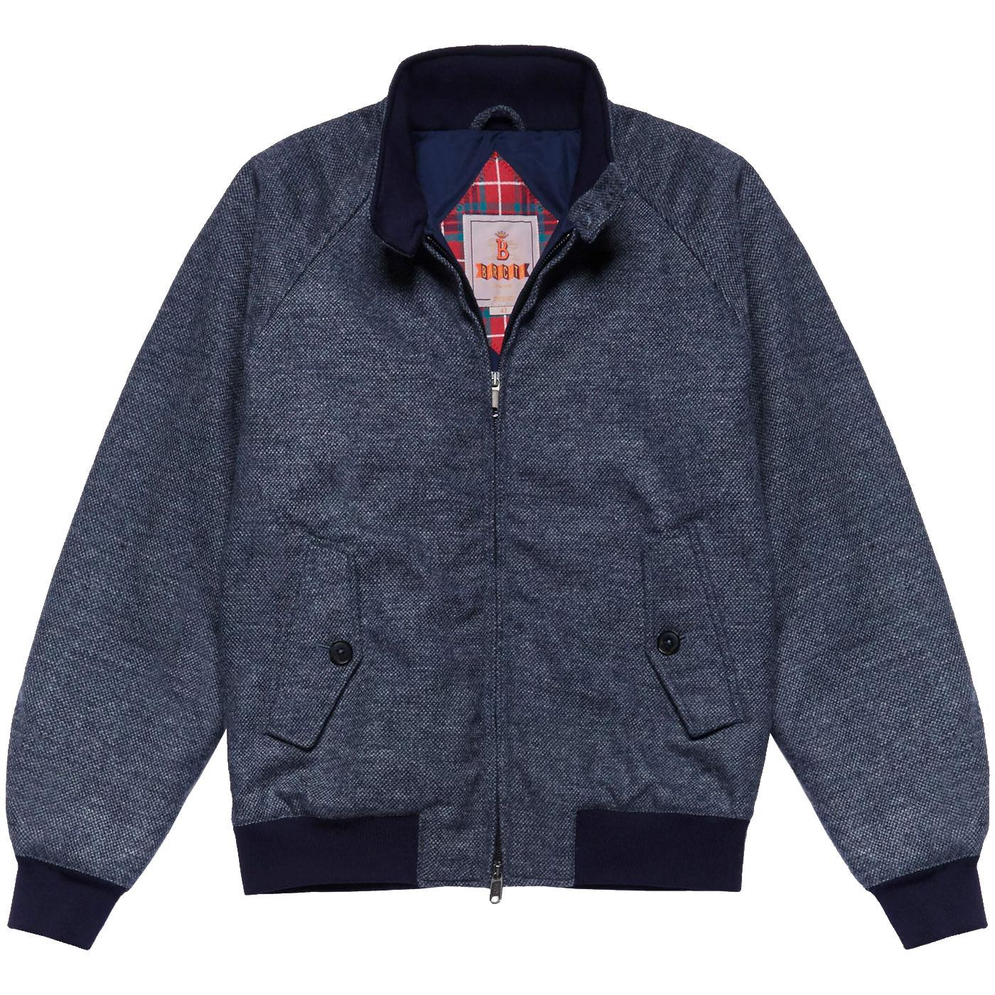 BARACUTA G9 Soft Shetland Harrington Jacket (G/B)