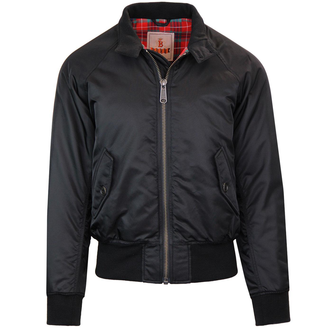 BARACUTA G9 Winter Flight Harrington Jacket BLACK