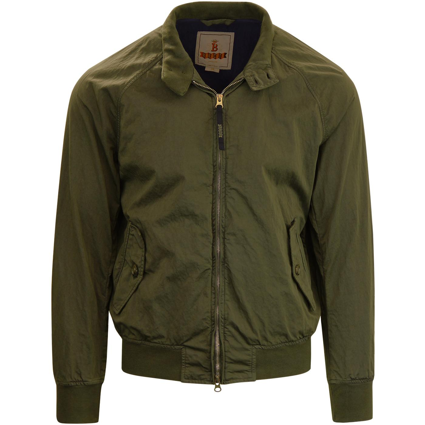 BARACUTA G9 Authentic Fit Sateen Harrington (Bark)