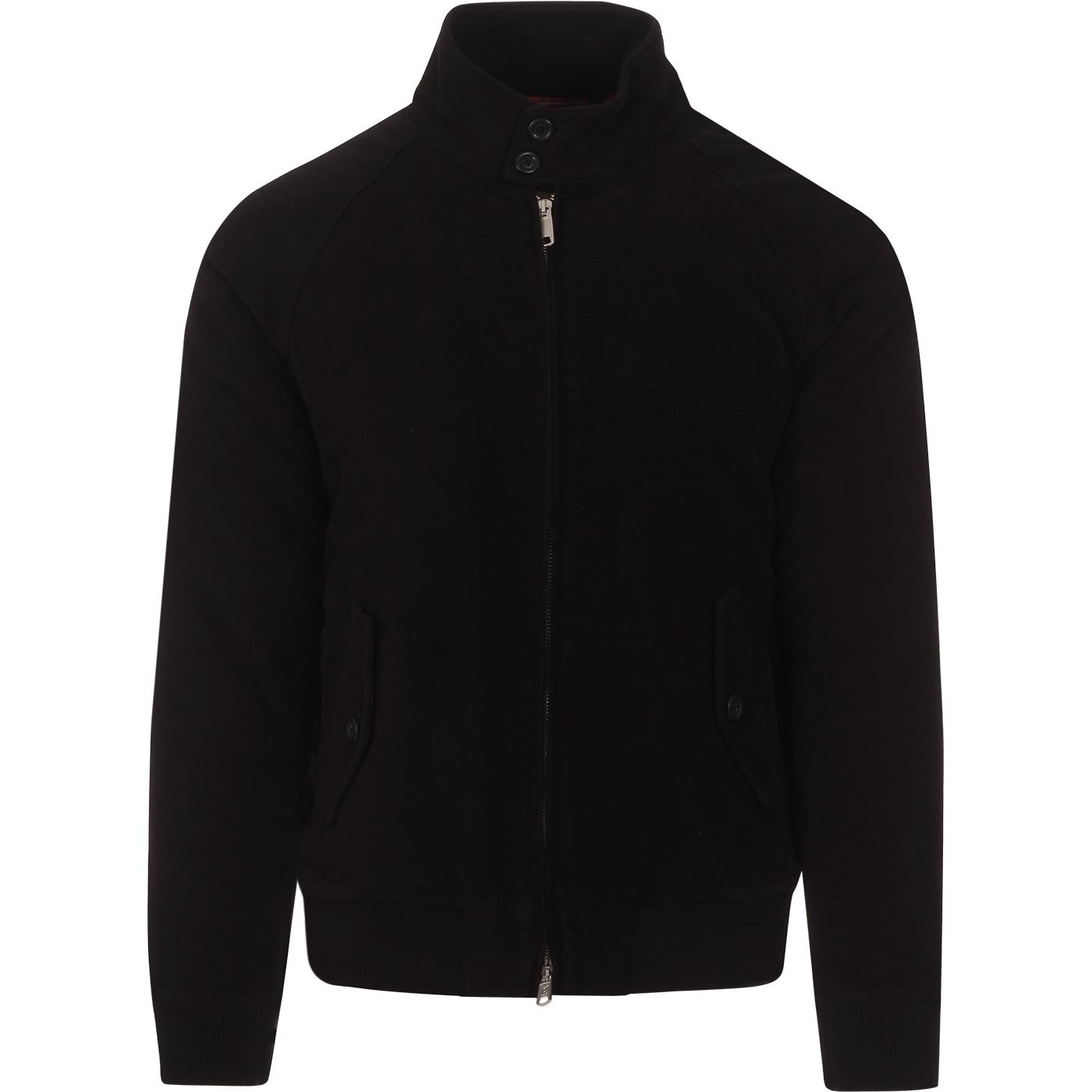 BARACUTA G9 Moleskin Mod Harrington Jacket (Black)