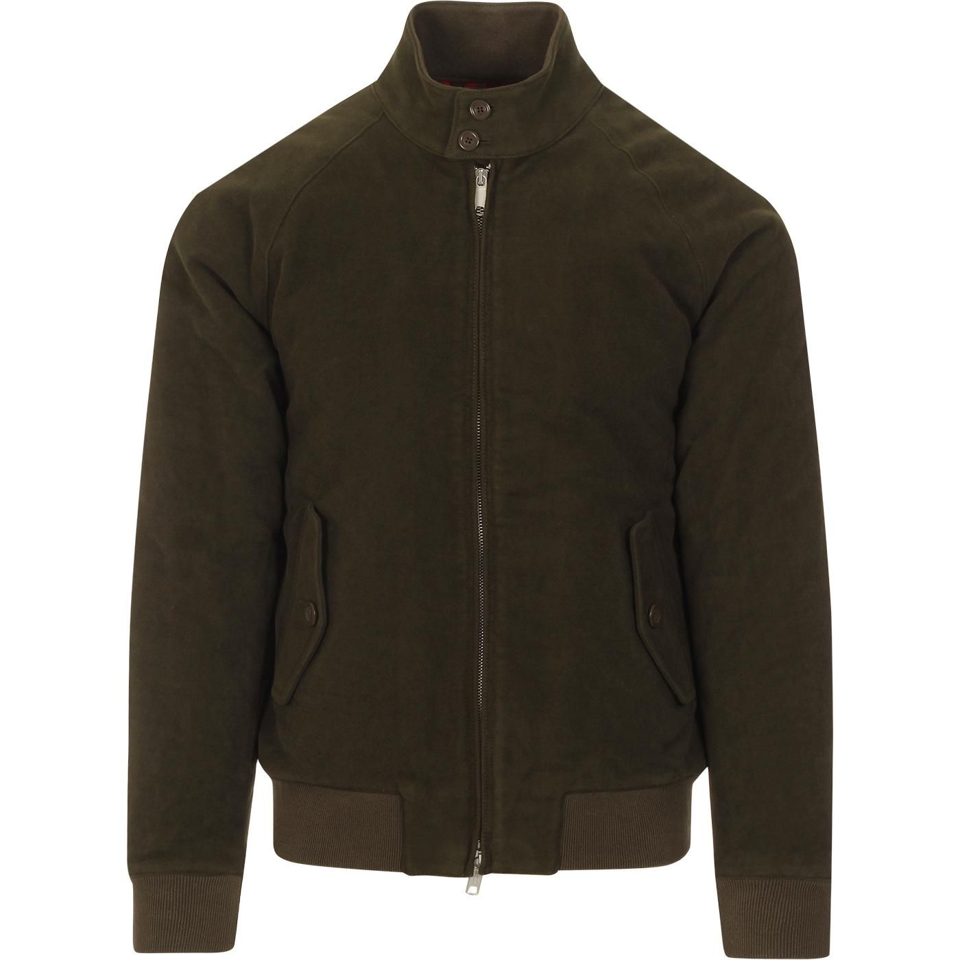 BARACUTA G9 Moleskin Mod Harrington Jacket FOREST