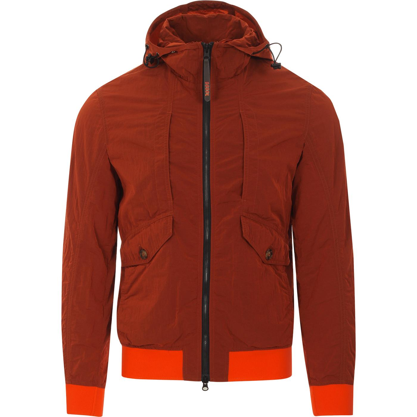 BARACUTA Four Pocket Garment Dyed Hooded Jacket P