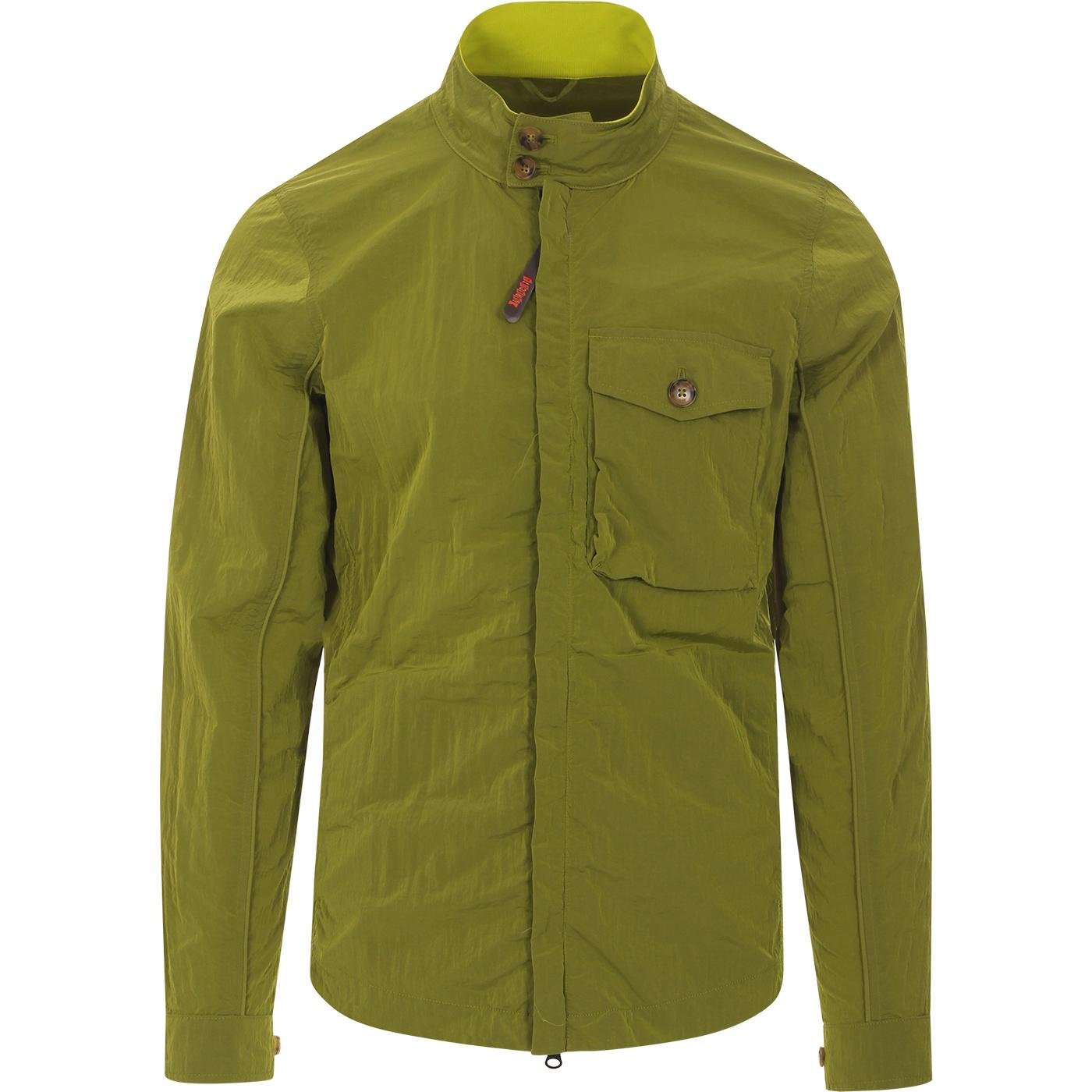 BARACUTA Nylon Garment Dye Harrington Overshirt A